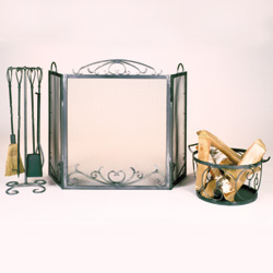 fireplace screen & tool sets